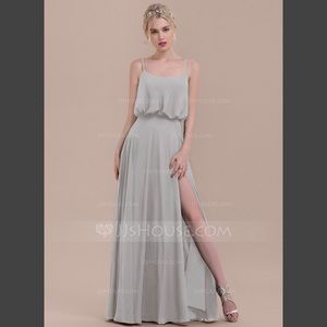 Silver/grey JJs House Bridesmaids Dress